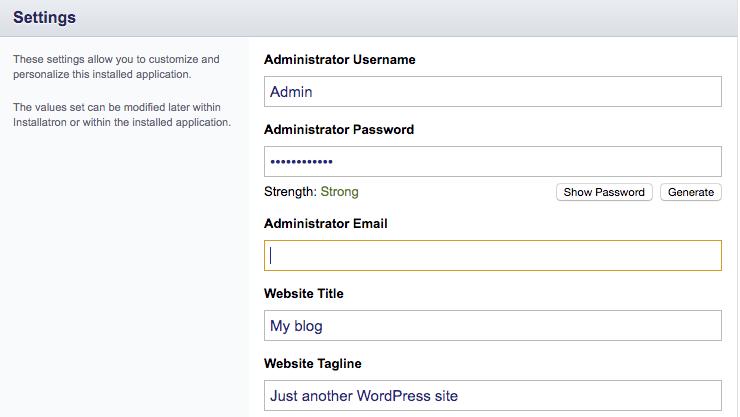 Lägg till WordPress hos Inleed.se