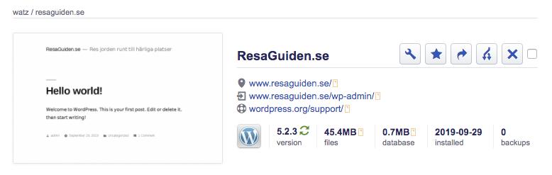 Logga in på WordPress hemsida